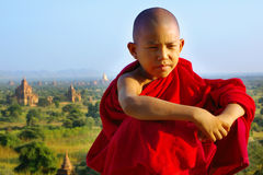 Portrait of young monk stock image