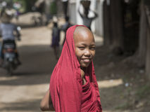 Portrait of young monk Stock Photos