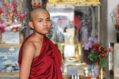 Portrait of young monk Royalty Free Stock Image