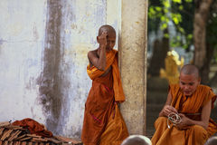 Portrait of young monks Stock Photos