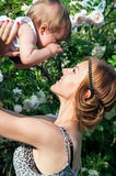 Portrait of a young mother with a child Royalty Free Stock Photo