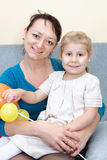 Portrait of young mother with daughter Royalty Free Stock Photos