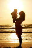 Portrait of young mother and her cute baby Royalty Free Stock Photography