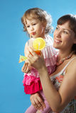 Portrait of young mother with her daughter Stock Photography