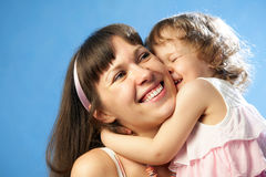 Portrait of young mother with her daughter Royalty Free Stock Images