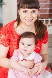 Portrait of young mother and her daughter Royalty Free Stock Image