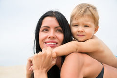 Portrait young mother and her son Stock Photography
