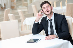 Portrait of young and motivated confident businessman Stock Images