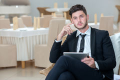 Portrait of young and motivated confident businessman Stock Photo