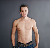 Portrait of young muscular man Royalty Free Stock Photography