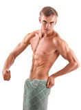 Aryan - looking young bodybuilder Royalty Free Stock Image