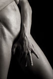 Portrait of a young muscular naked man Stock Image
