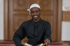 Portrait Of Young Muslim Man Smiling Stock Photography
