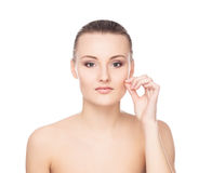 Portrait of a young naked woman in makeup Royalty Free Stock Photo