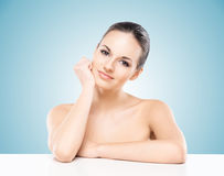 Portrait of a young naked woman in makeup Royalty Free Stock Images