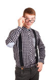 Portrait of a young nerd Stock Photo