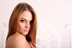 Portrait of young nice beautiful woman Royalty Free Stock Image