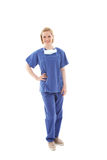 Portrait of a young nurse in scrubs Royalty Free Stock Photos