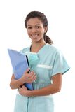 Portrait of young nurse smiling Stock Photo