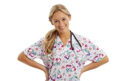 Portrait of young nurse with stethoscope Stock Photography