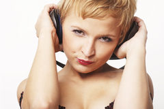 Portrait of young party girl Stock Photography
