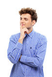 Portrait of a young pensive man Royalty Free Stock Photography