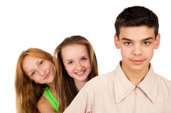Portrait of young people Stock Photos