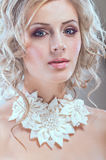Portrait of young pertty bride. Portrait of young pertty blond bride Stock Image