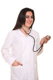 Young pharmacist with stethoscope Stock Image
