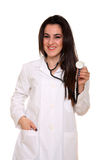 Young pharmacist with stethoscope Royalty Free Stock Images