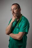 Portrait of a young physician Stock Images