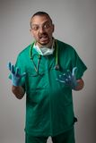 Portrait of a young physician shouting Royalty Free Stock Images