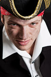 Portrait of young pirate Stock Images