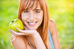 Portrait of young pleasant woman Stock Photography
