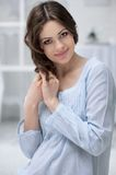 Portrait of the young pregnant woman Royalty Free Stock Image