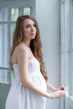 Portrait of the young pregnant woman Royalty Free Stock Photography