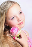 Portrait of a young pretty girl Stock Images