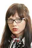 Portrait young pretty girl with glasses Royalty Free Stock Photography