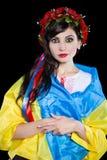 Portrait of young pretty Ukrainian woman stock image