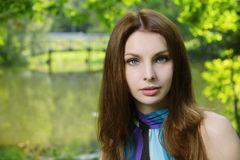 Portrait of young pretty woman Royalty Free Stock Photo