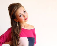 Portrait of young pretty woman Royalty Free Stock Image