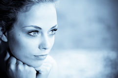 Portrait young pretty woman royalty free stock images