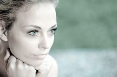 Portrait Young Pretty Woman Royalty Free Stock Photography