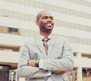 Portrait of young professional man smiling laughing royalty free stock photos