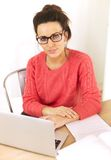 Young Professional Working at Home Stock Image