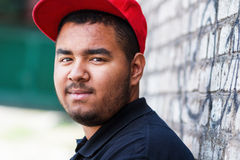 Portrait of young rapper Royalty Free Stock Photography