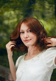 Portrait of a young readhead woman Royalty Free Stock Images