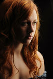 Portrait of Young Red Hair Woman Stock Photos