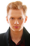 Portrait of young red-haired man close up Royalty Free Stock Photography