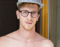 Portrait of a young red-haired man Royalty Free Stock Photo